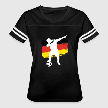 Flag Of Germany German soccer player dabbing - Women's Vintage Sport T-Shirt