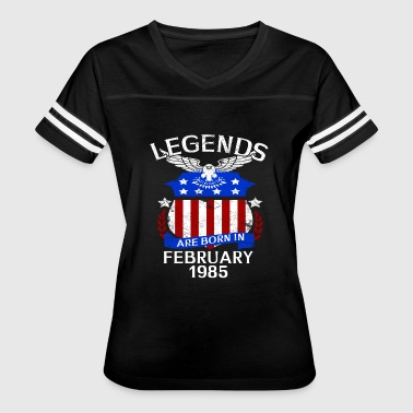Legends Are Born In February 1985 - Women's Vintage Sport T-Shirt