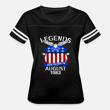 1983 Bday Legends Are Born In August 1983 - Women's Vintage Sport T-Shirt