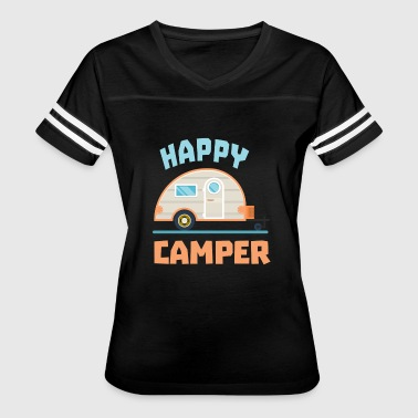 Happy Camper Camping - Women's Vintage Sport T-Shirt