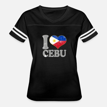 Cebu I Love Cebu Philippines Filipino Flag Pride - Women's Vintage Sport T-Shirt