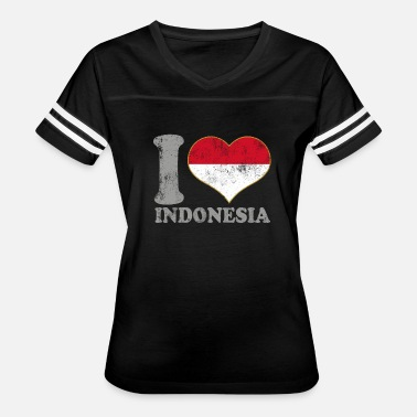 Indonesia Kids I Love Indonesia Indonesian Flag Pride - Women's Vintage Sport T-Shirt