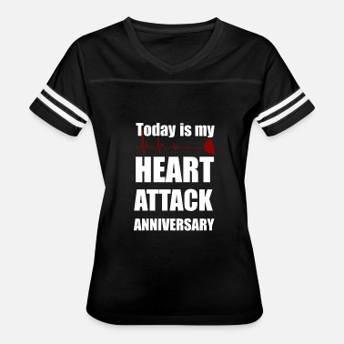 Heart Beating Heart attack anniversary - Women's Vintage Sport T-Shirt