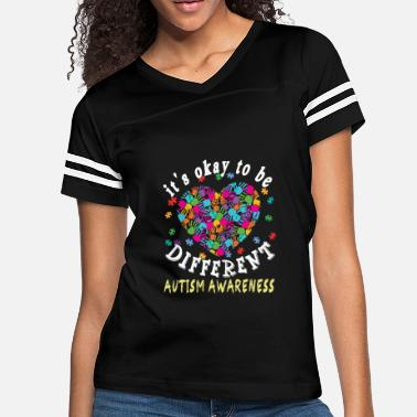 Asperger Syndrome Ribbon it s okay to be different autism awareness - Women's Vintage Sport T-Shirt