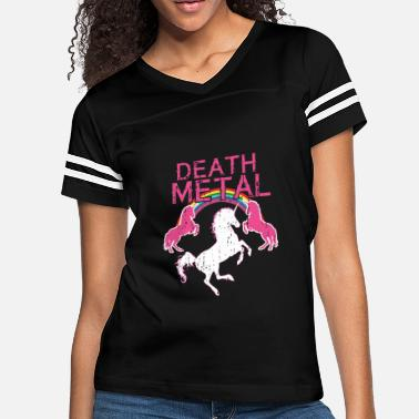 e9172348 Funny-death-metal-rainbow-unicorn... Unicorn Rainbow Shirt Death. Women's  Vintage Sport T-Shirt