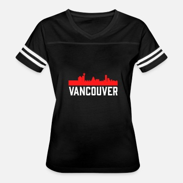 Seaport Vancouver Skyline Bustling West Coast Seaport - Women's Vintage Sport T-Shirt