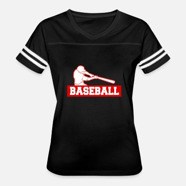 Swinging Bat baseball player swing bat gift idea - Women's Vintage Sport T-Shirt