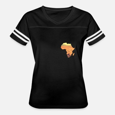 African Wildlife Safari Africa Map Savannah wildlife safari - Women's Vintage Sport T-Shirt
