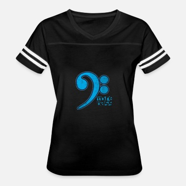 Bass Clef Notes More Bass Clef Musical Note - Women's Vintage Sport T-Shirt