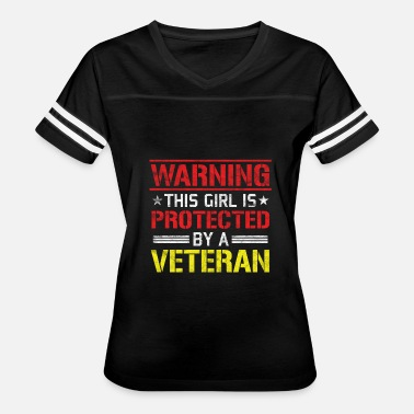 Veteran Protect Veterans Day - This Girl is Protected by a Veteran - Women's Vintage Sport T-Shirt