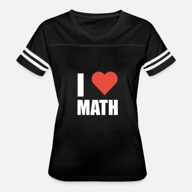 Basic Math I Love Math - Math - Total Basics - Women's Vintage Sport T-Shirt