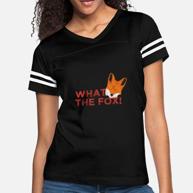 Pun Animal Puns What the fox! - Women's Vintage Sport T-Shirt