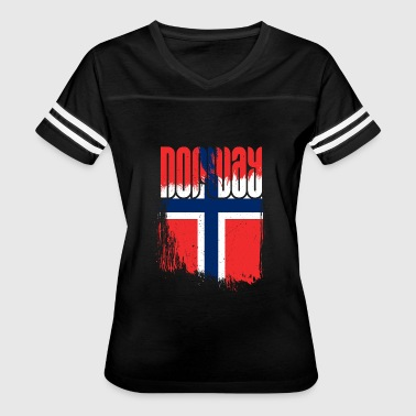 Norway Flag - Women's Vintage Sport T-Shirt