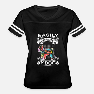 Rescue Dog Schnauzer Easily Distracted By Dogs Schnauzer - Women's Vintage Sport T-Shirt