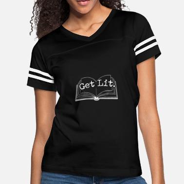 cf9192055d2 Get Lit Book Reading - Women  39 s Vintage Sport T-Shirt