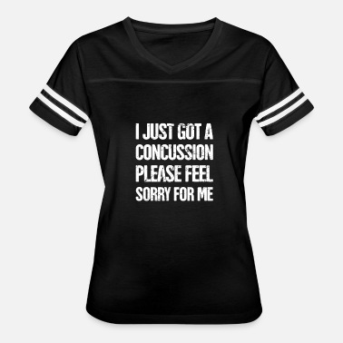 Concussion Funny - Get Well Gift Cracked Skull Concussion - Women's Vintage Sport T-Shirt
