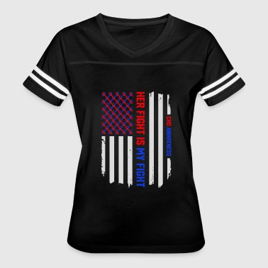Congenital Heart Disease USA Flag Congenital Heart Disease CHD Awareness - Women's Vintage Sport T-Shirt