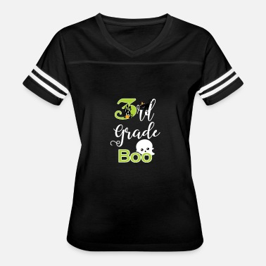 Boo Boo Kitty 3rd Grade Halloween Cute Boo Ghost & Kitty Kid's Gift - Women's Vintage Sport T-Shirt