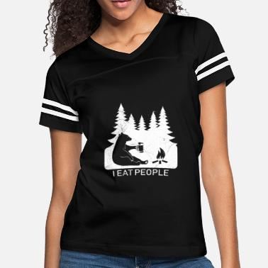 2def906e87fd Camping Shirt Hiking I Hate People I Eat People - Women's Vintage