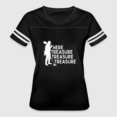 Metal Joke Funny Metal Detecting Treasure Hunter Joke Design - Women's Vintage Sport T-Shirt