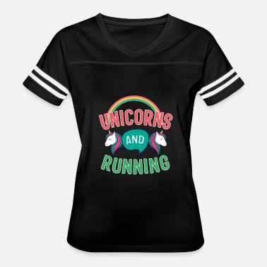 Unicorn Running Unicorns And Running - Women's Vintage Sport T-Shirt