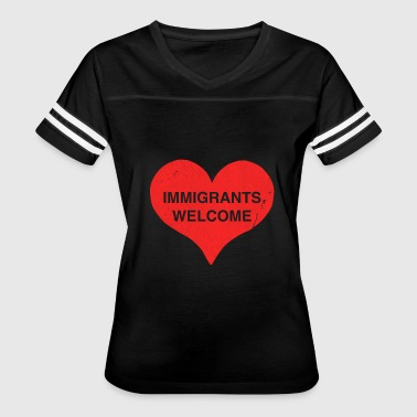 Immigrants Welcome Immigrants Welcome - Women's Vintage Sport T-Shirt