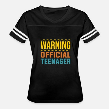 Official Teenager Warning Official Teenager T Shirt 13th Birthday - Women's Vintage Sport T-Shirt