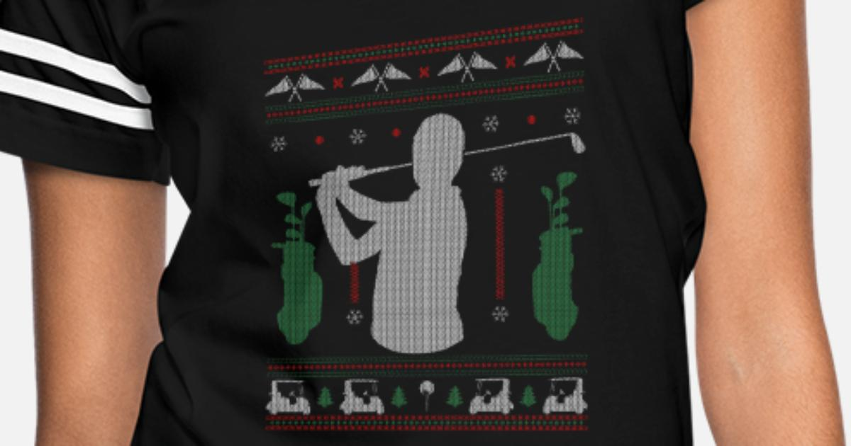 a002d3f581 Ugly Christmas Golf Golfer Funny Gift & Present Women's Vintage Sport T- Shirt | Spreadshirt