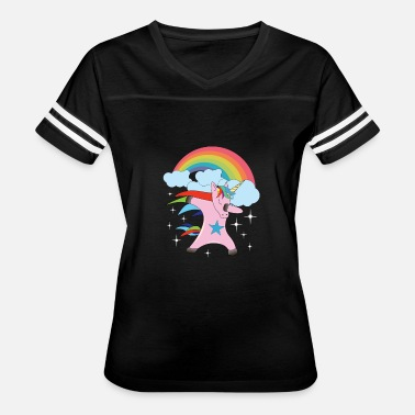 Dab Star Unicorn Rainbow Doing the Dab Dabbing Cloud Star - Women's Vintage Sport T-Shirt