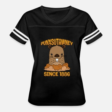 Punxsutawney Phil Groundhog Day Punxsutawney Phil Pennsylvania 1886 - Women's Vintage Sport T-Shirt