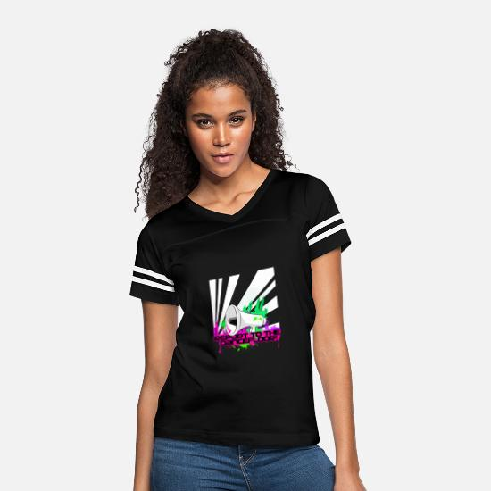Loud T-Shirts - REPORT TO THE DANCEFLOOR - Women's Vintage Sport T-Shirt black/white