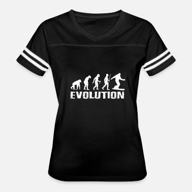 Evolution Of Snowboarding Snowboard Gift Evolution Snowboarder - Women's Vintage Sport T-Shirt