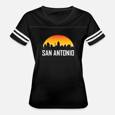 Antonio San Antonio Texas Sunset Skyline - Women's Vintage Sport T-Shirt