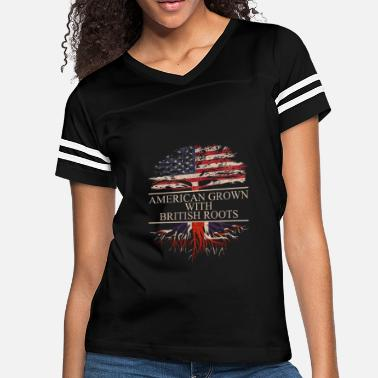 The British Empire american grown with british roots - Women's Vintage Sport T-Shirt