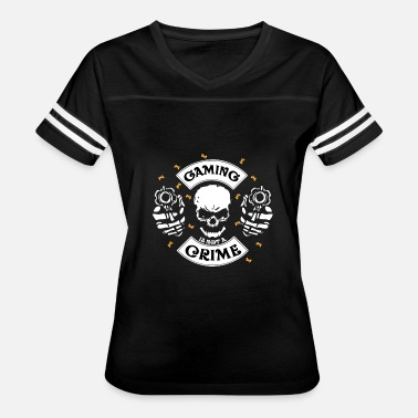 Crime Party gaming is not a crime gamers gift - Women's Vintage Sport T-Shirt
