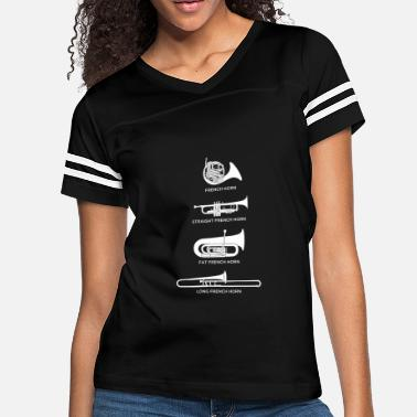 babea86058 Funny Types Of French Horn - Women's Vintage Sport T-Shirt