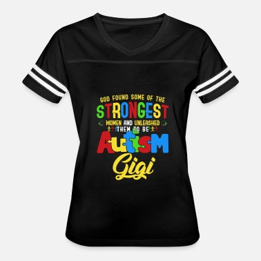 Autism Awareness Grandma The Strongest Autism Gigi Autism Grandma Awareness - Women's Vintage Sport T-Shirt