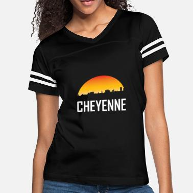 Cheyenne Cheyenne Wyoming Sunset Skyline - Women's Vintage Sport T-Shirt