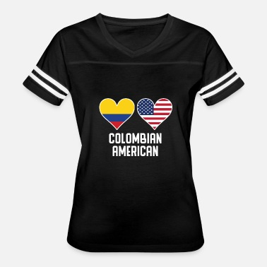 Colombian American Flag Colombian American Heart Flags - Women's Vintage Sport T-Shirt