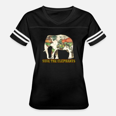 Save The World Save The Elephants World Map - Women's Vintage Sport T-Shirt