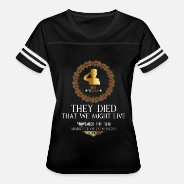 Armistice Day REMEMBRANCE Day Armistice 100 years aniversary - Women's Vintage Sport T-Shirt