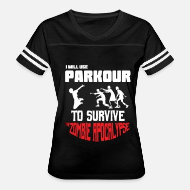 Parkour Youth Awesome and Cool Parkour Tshirt Design Parkour to Survive - Women's Vintage Sport T-Shirt