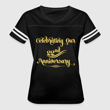 22nd Wedding - 22nd Wedding Anniversary Husband - Women's Vintage Sport T-Shirt