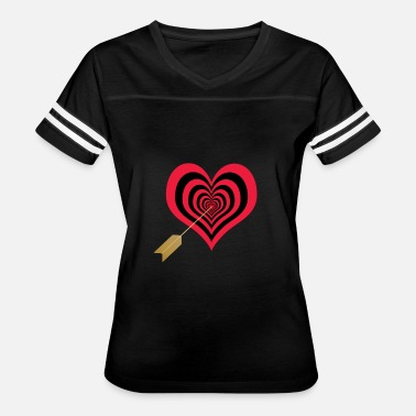 Cupid's arrow in heart - Women's Vintage Sport T-Shirt