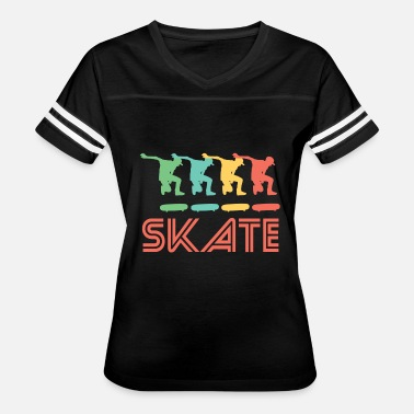 Pop Art Retro Skateboarding Pop Art - Women's Vintage Sport T-Shirt