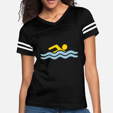 Sportauto sea swimming pool holiday waves water cool sports - Women's Vintage Sport T-Shirt