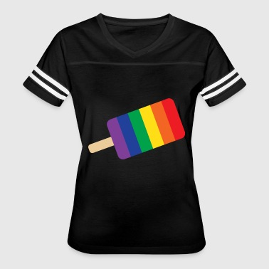 Popsicle Ice Cream Rain bow Ice Cream popsicle - Women's Vintage Sport T-Shirt