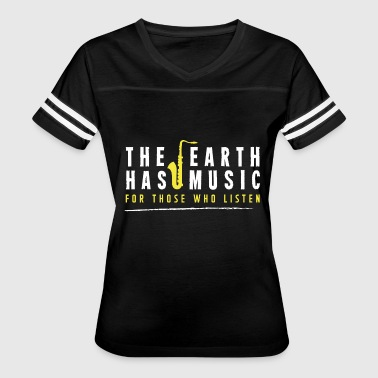 Indy Hip Hop Music - The earth has music for those who listen - Women's Vintage Sport T-Shirt