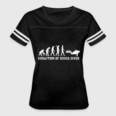 Diver - evolution of scuba diver t - Women's Vintage Sport T-Shirt