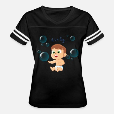 Bubble Boy boy baby smiling bubbles inscription - Women's Vintage Sport T-Shirt